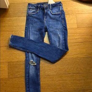 Zara size 34 distressed jeans